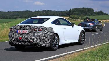 Lexus RC facelift spy - rear quarter