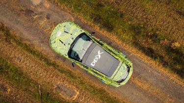 Aston Martin DBX prototype - top