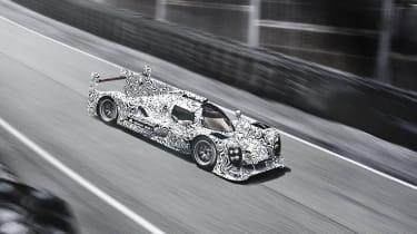 Porsche LMP1 Le Mans car side profile