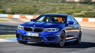 BMW M5 review - front dynamic