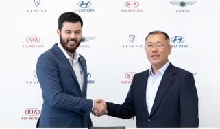 Mate Rimac and Hyundai