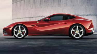 New Ferrari F12 Berlinetta side profile