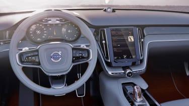 Volvo Concept Estate interior touch screen