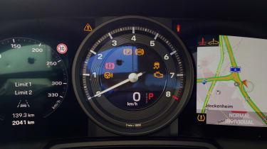 Porsche 911 on location - dials