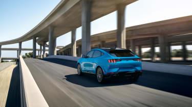 Ford Mustang Mach-E GT rear three quarters far