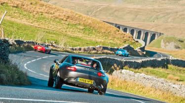Mazda MX-5 vs Toyota GT86 vs Abarth 124 Spider rear