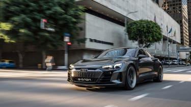 Audi e-tron GT Concept drive - front quarter