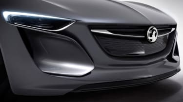 Opel Monza concept car grille front headlights