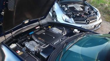 Aston Martin Vantage 600 and Mercedes AMG SL65 Black engines