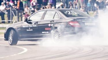 World drift record broken in Mercedes-Benz C63 AMG