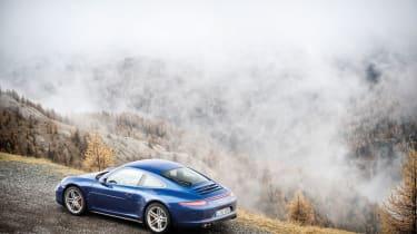 Porsche 911 Carrera 4S blue, rear static photo