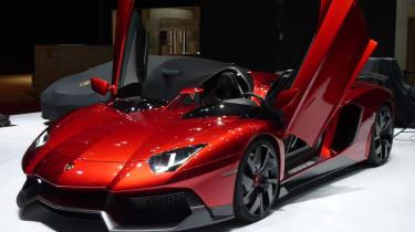 Lamborghini Aventador J doors up