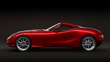 Trident Iceni sports car side profile