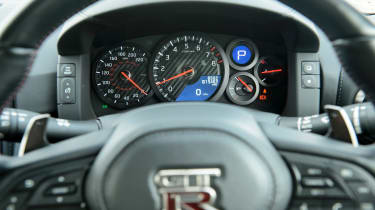 Nissan GT–R steering wheel