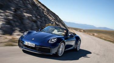 Porsche 911 Cabriolet 992 - front quarter