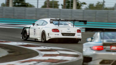 Bentley Continental GT3 race debut report