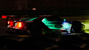 Le Mans 2017 - Ford GT nighttime profile
