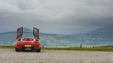Lamborghini V12 group test Wales - doors up