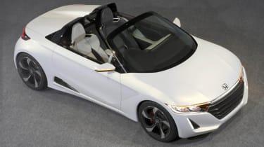 Honda S660 sports car concept white