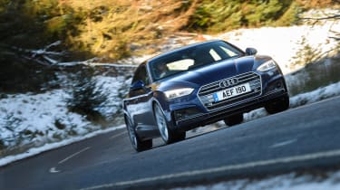 Audi A5 Sportback S-Line - front cornering