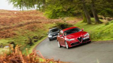 Alfa Giulia vs M3 CP - turing