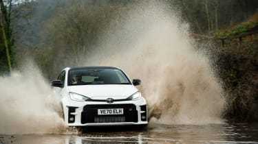 Litchfield Toyota GR Yaris – puddle front
