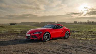 Toyota Supra 2.0 review - static front quarter
