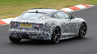 Jaguar F-type facelift spied rear three quarters 2