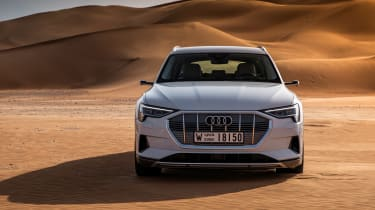 Audi e-tron 2019 offroad head on