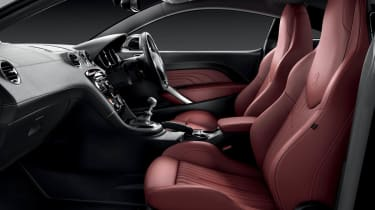 Peugeot RCZ Magnetic red leather interior