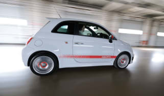 Abarth 500 driving fiat