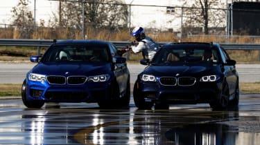 BMW M5 drift attempt - front