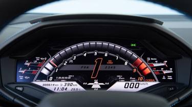Lamborghini Huracan EVO silver - dials