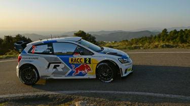 WRC Spain Latvala cornering