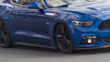 Ford Mustang GT V8 cornering detail