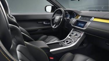 Range Rover Evoque Sicilian Yellow Limited Edition interior dashboard