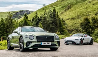 Bentley Continental GT V8 and Aston Martin Vantage