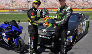 Valentino Rossi tries NASCAR