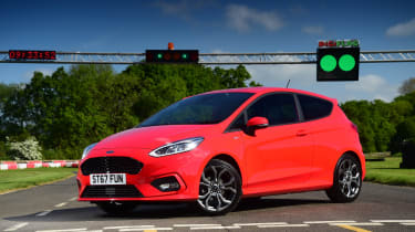 Ford Fiesta ST-Line UK - front quarter