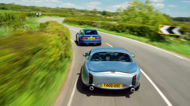 TVR Tuscan and BMW M Coupe rear
