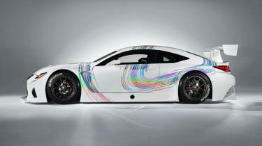 Lexus RC-F GT3 racing car side profile