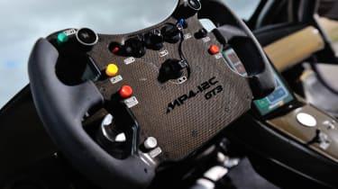 McLaren 12C Can-Am interior steering wheel