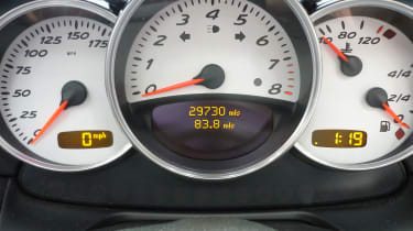 Porsche Boxster S instrument dials