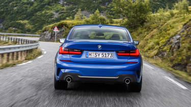 BMW 3-series G20 revealed - M Sport rear quarter