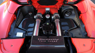 Ferrari 458 twin turbo by Hennessey V8 engine