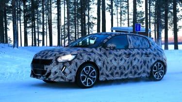 Peugeot 208 spied - side