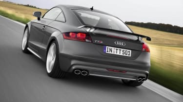 Audi TTS Competition grey rear spoiler