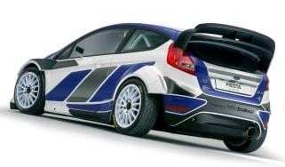 Ford Fiesta WRC rally car