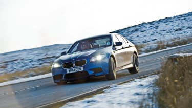 BMW M5 in North Wales