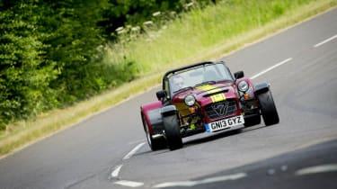 New Caterham 620R sideways drift slide